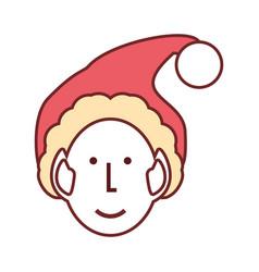 christmas elf vector image