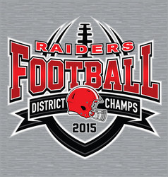 District Champs football t-shirt graphic vector image