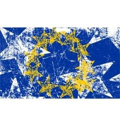 Grunge European flag Artwork vector image