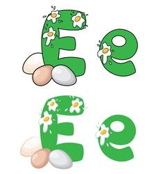 letter E egg vector image vector image