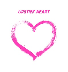Lipstick painted heart vector image