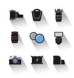 photo equipment icons vector image