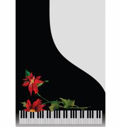 piano with flowers vector image vector image