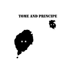 symbol of isle of tome and principe and map vector image vector image