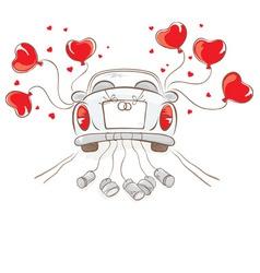 Wedding car vector image vector image