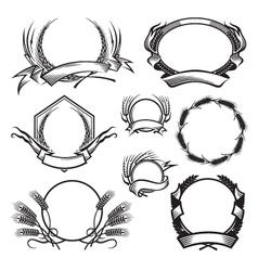 wheat icon set vector image vector image