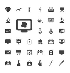 33 analysis icons vector