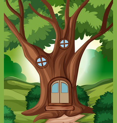 a fairy tale house in the jungle vector image