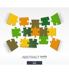Abstract background with connected color puzzles vector