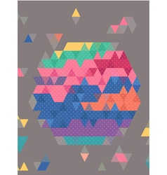 Abstract Colorful triangles with dot texture vector image