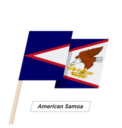 American samoa ribbon waving flag isolated on vector