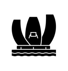 Artscience museum black glyph icon vector