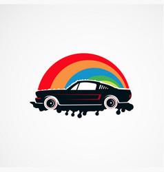 Auto paint retro car logo concept icon element vector