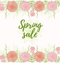background for spring sale vector image
