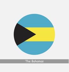 Bahamas round circle flag vector