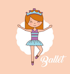 beautiful ballerinas ballet cartoon character vector image