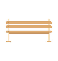 bench icon in flat style vector image