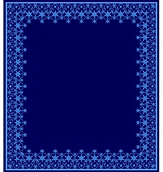 Blue frame with snowflakes vector image