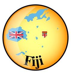 button Fiji vector image