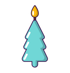 candle christmas icon cartoon style vector image