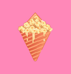 Caramel corn vector
