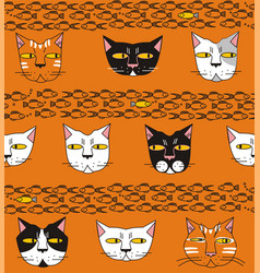 cats think about fish vector image