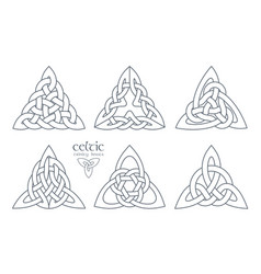 celtic trinity knot part 2 ethnic ornament vector image