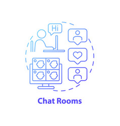 Chat rooms concept icon vector