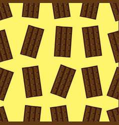 Dark chocolate bar seamless pattern vector
