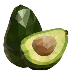 Delicious avocado polygonal geometric vector