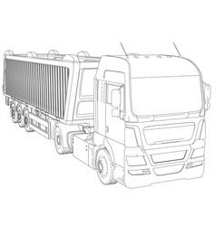 Dump truck isolated white vector