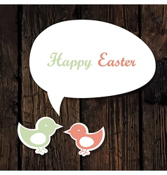 easter greeting card wooden vector image