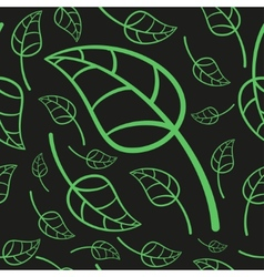 Effective Green Leaves Seamless Pattern vector image vector image