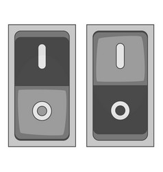 electric switch icon monochrome vector image