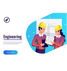 Engineering flat background vector