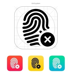 Fingerprint rejected icon vector