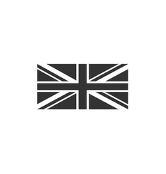 flag great britain icon isolated uk flag sign vector image