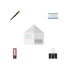 Flat icon tool set of letter date block paper vector
