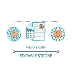 Flexible cost advantage concept icon vector
