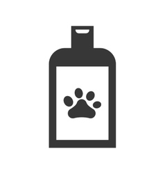 Foot print shampoo love pet animal icon vector