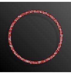 Frame Red Sequins Circle Glitter sparkle stars vector