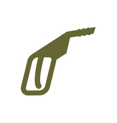 Fuel gun isolated flat sign gas pump vector