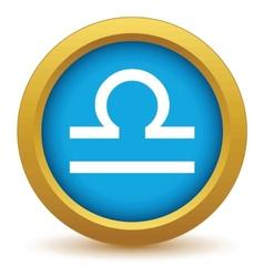 Gold Libra icon vector