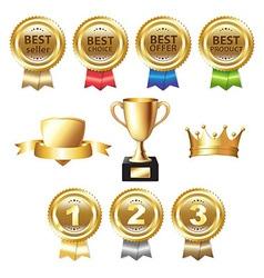 Golden awards vector