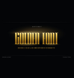 golden luxurious alphabet elite and premium style vector image