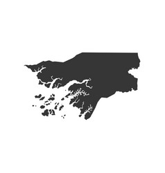 Guinea-bissau map silhouette vector