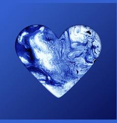 heart shape on blue background artistic creative vector image