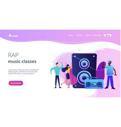 hip-hop music concept landing page vector image