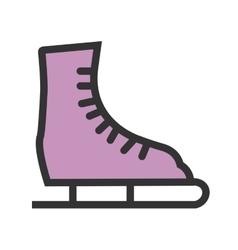 Ice Skating Shoe vector image