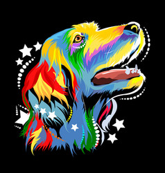image of a dog in the style of pop art vector image